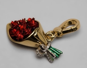 Juicy Couture Rose Bouquet Charm