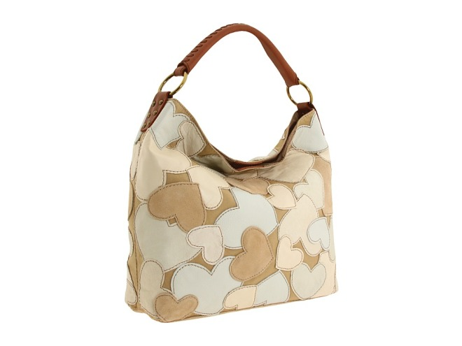 lucky brand heart patchwork bag