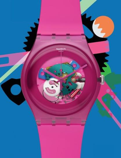 Swatch New Gent Collection in Pink Lacquered