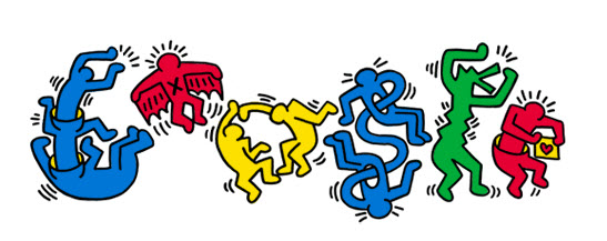Google Keith Haring Doodle